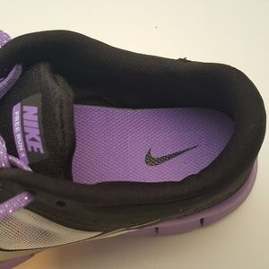 Nike Free Run 3 Black Purple Girl Sneakers Size 7Y